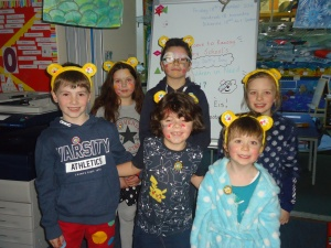 Raasay Primary School raised £113 for Children in Need Nov 2017 by dressing up and having a fun 'Spotty' treasure hunt!